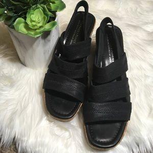 Donald J. Pliner Black Sandal Wedge Size 12